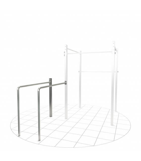 Dip-station Extension, made of stainless steel