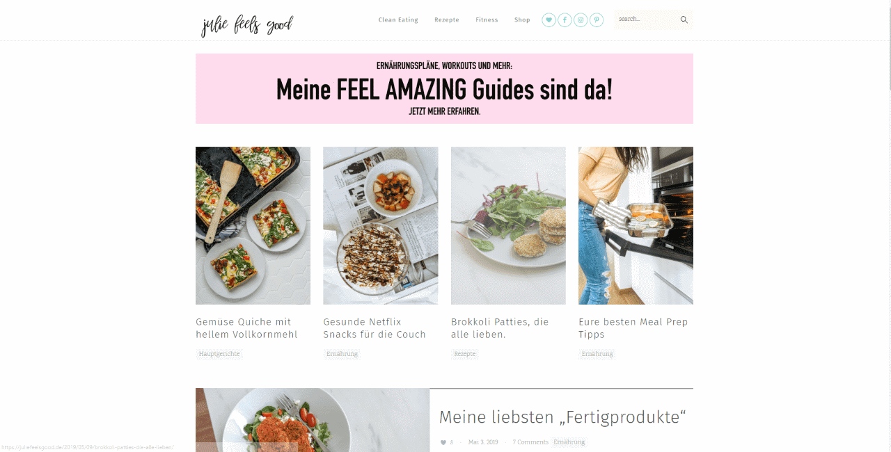 Juliefeelsgood Clean Eating, Fitness und mehr