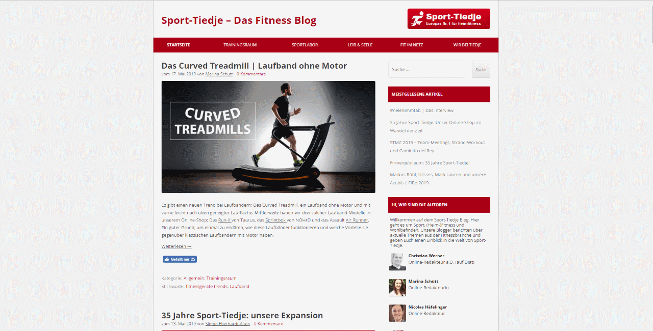 Sport Tiedje Fitness Blog