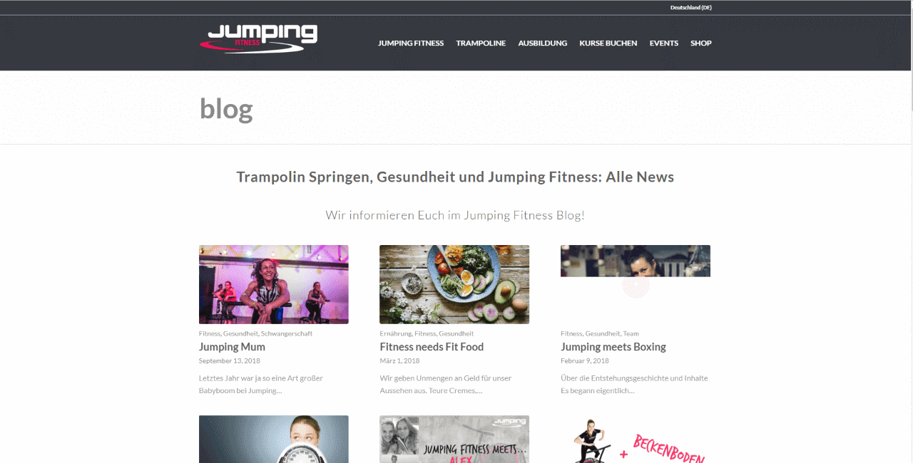 Jumping Fitness Blog Trampolin