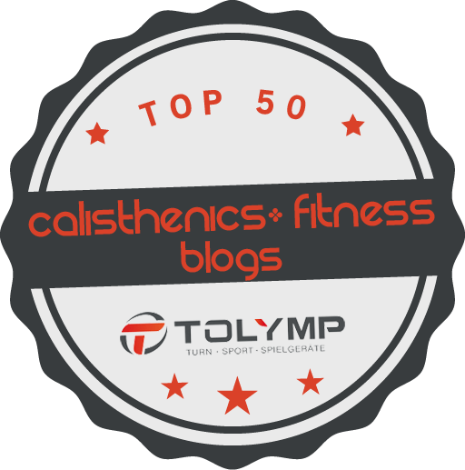 Top 50 Calisthenics und Fitness Blogs Siegel von TOLYMP